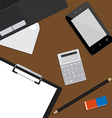 Working place background vector image
