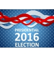 USA Presidential Election 2016 flyer template vector image