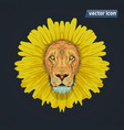 lion like dandelion vector image