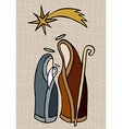 Christian nativity vector image