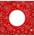Christmas balls cut the paper vector image vector image
