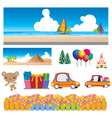 colorful cartoons vector image
