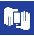 hands smartphone vector image