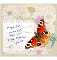 card with a butterfly vector image