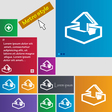 Upload icon sign buttons Modern interface website vector image