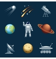 Space and astronomy set vector image vector image
