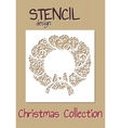 Stencil design template Christmas collection vector image
