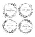 vintage wreaths Collection of trendy cute vector image
