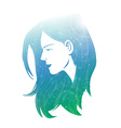 Beautiful women with abstract hair vector image