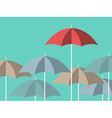 Bright red unique umbrella vector image