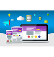 Flat seo icons Web sites and applications vector image
