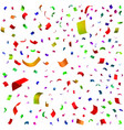 holiday of falling confetti vector image