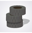 Low poly old rubber tires vector image