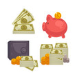 paper money and bag concept of bi vector image