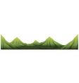 Seamless green mountain range vector image