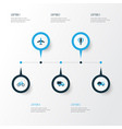 transport colorful icons set collection of vector image