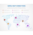 World map infographics template with vector image vector image