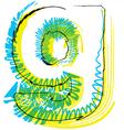 Sketch font Letter g vector image vector image