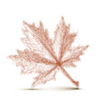 autumn leaf - continuous line drawing vector image