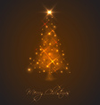 Abstract Christmas tree made of light and sparkles vector image vector image