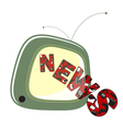 news on tv vector image