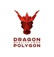 Head Polygon dragon origami logo vector image