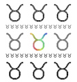 Zodiac Sign Taurus Set vector image