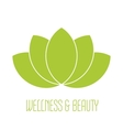 Green lotus icon vector image