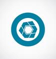 abstract pentagon icon bold blue circle border vector image