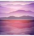 Background with sea and mountain vector image