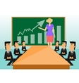 business meeting and presentation in an office vector image