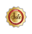 final sale sticker golden seal shopping discounts vector image