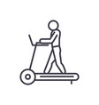 fitness treadmill concept thin line icon vector image
