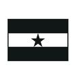 Ghana flag isolated monochrome on white background vector image