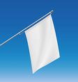 White flag Stock vector image