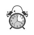 retro black alarm clock vector image vector image