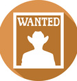 Wanted Poster Icon vector image