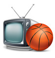 basketball channel vector image vector image