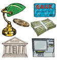 banking objects vector image vector image