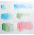 Abstract Watercolor Splashes Set vector image