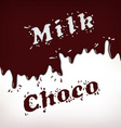 Milk and Choco Splash vector image
