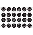 Medical black and white linear icons set vector image