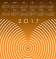 A 2017 abstract wavy line calendar vector image