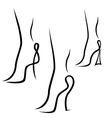 Abstract samples of graceful female feet vector image