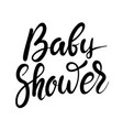 baby shower hand drawn lettering phrase isolated vector image