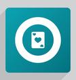 flat poker icon vector image