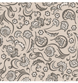 pattern seamless floral beige vector image