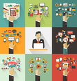Set of business concept with hands Freelance vector image