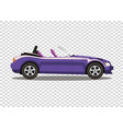 violet cabriolet car isolated on transparent vector image