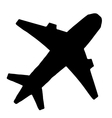 aircraft isolated on white background vector image